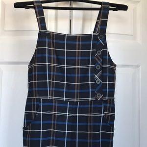 Zara plaid Overalls Jumpsuit